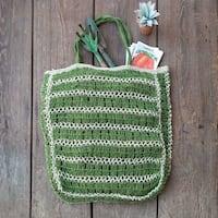 Green Jute Tote Bag