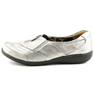 Hush Puppies Womens Jennica Leather Metallic Casual Shoes