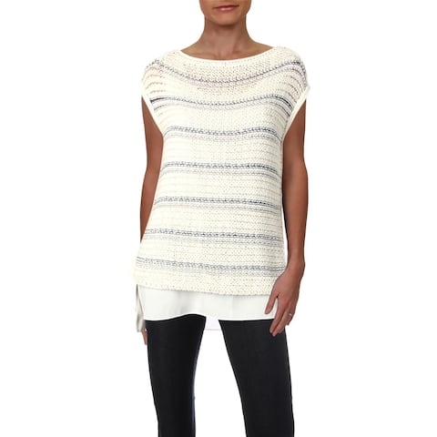 Lafayette 148 New York Womens Tunic Sweater Silk Blend Striped - S