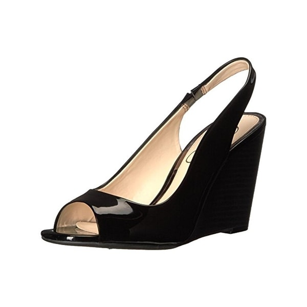 Jessica Simpson Womens Gaela Wedge Sandals Patent Slingback