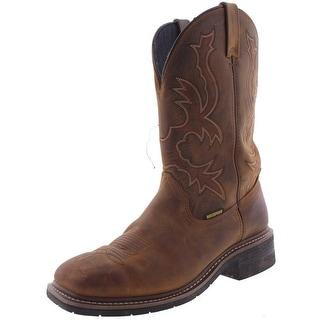 Dan Post Mens Nogales Cowboy, Western Boots Leather Square Toe - 10 medium (d)