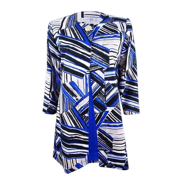 b2df75497e Shop Kasper Women s Plus Size Flyaway Topper Jacket (18W