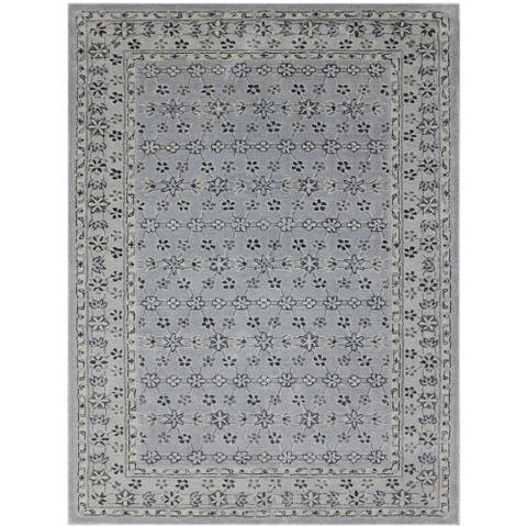 Transitional Design Hand-Tufted Area Rug - 7' x 7' Round