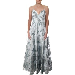 Link to Eliza J Womens Evening Dress Metallic Formal - Sky Similar Items in Dresses