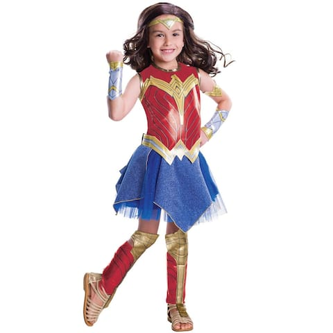 Rubies JL Deluxe Wonder Woman Child Costume - Red/Blue