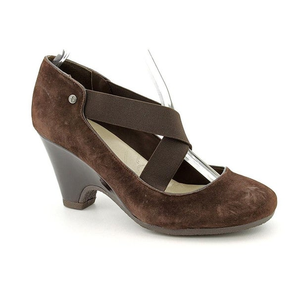 G.B. Fraga Strappy Pump Heels - Dark Brown - 6.5