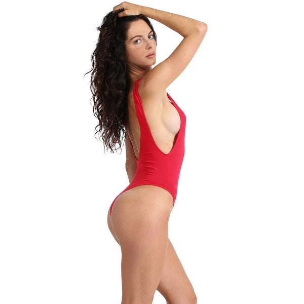 d82b234bbbc NE PEOPLE Womens Sexy Thong Bodysuit with Low Cut Sides S-3XL NEWBS16 .  Click to Zoom