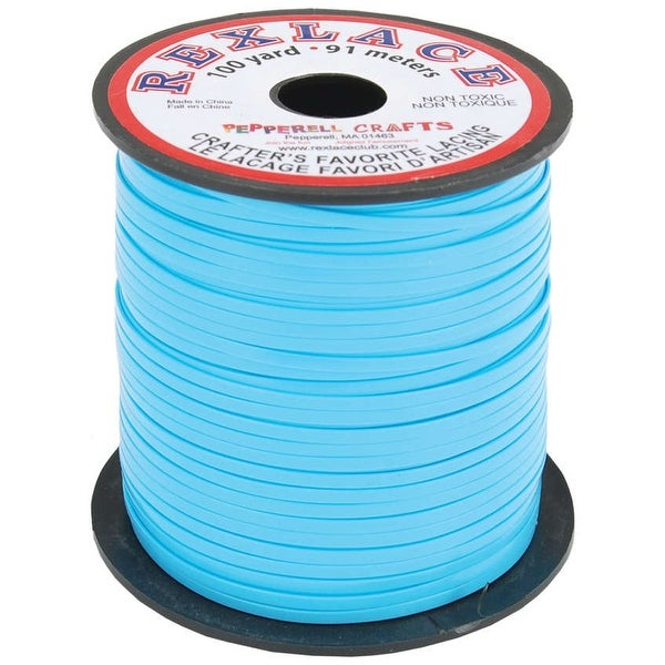 "Rexlace Plastic Lacing .0938""X100yd-Baby Blue"