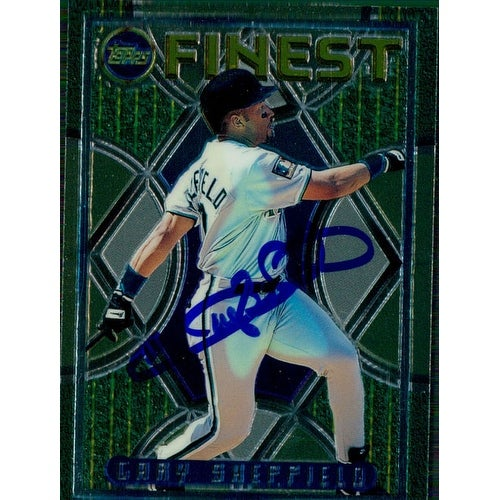 Signed Sheffield Gary Florida Marlins 1995 Topps Baseball Card Autographed