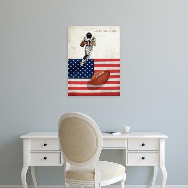 Easy Art Prints GraphINC's 'American Sports: Football 1' Premium Canvas Art