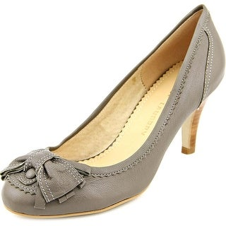 Chinese Laundry Grendel Women Round Toe Leather Gray Heels