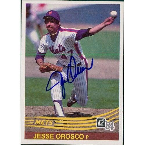 Signed Orosco Jesse New York Mets 1984 Donruss Baseball Card Autographed
