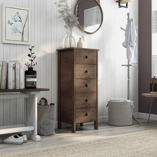 Link to Carbon Loft Mulgrew Distressed Walnut 5-drawer Vertical Chest Similar Items in Dressers & Chests
