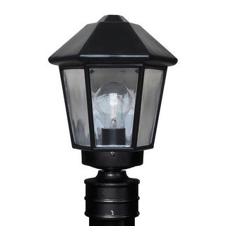 Costaluz 3272-POST 1 Light Incandescent Post Light with Clear Glass Shade