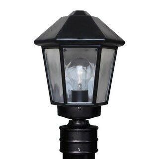 Costaluz 3272-POST 1 Light Incandescent Post Light with Clear Glass Shade (2 options available)