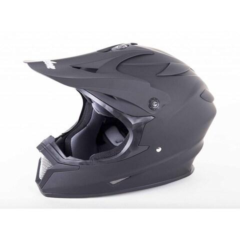 Cyclone ATV MX Motocross Dirt Bike Off-Road Helmet DOT/ECE Approved- Matte Black