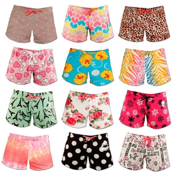 4-Pack: Women's Super Soft Printed Ultra Plush Shorts