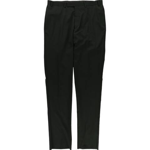 Calvin Klein Mens Tonal Stripe Dress Pants Slacks, Black, 37W x UnfinishedL - 37W x UnfinishedL