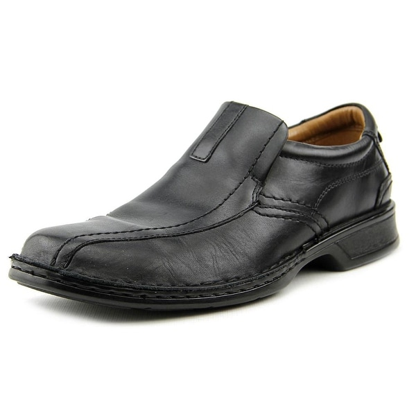 Clarks Narrative Escalade Step Men Bicycle Toe Leather Black Loafer