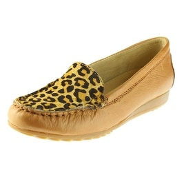 Skechers Womens Leather Animal Print Loafers - 5