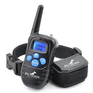 Petsonik No Bark Dog Training Electric E-Collar PET, Waterproof, Rechargeable, 330 yd Remote