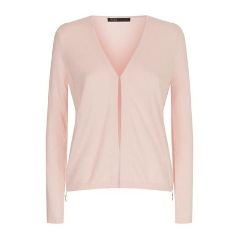 Maje Pink Side Zip Cardigan