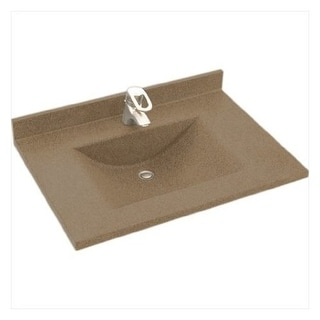 "Swanstone CV2237 Contour One Piece Vanity Top and Sink 37"" Wide"