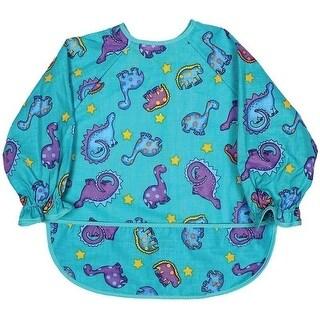 Raindrops Unisex Baby Long Sleeve Print Bib-Jade Dinosaur Boy Print - One size