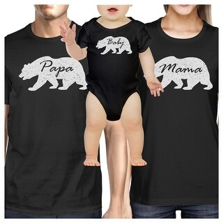 Family Black Matching Outfits Gifts For New Parents Mom Dad Baby Matching