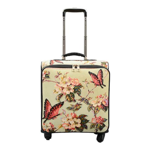 Mellow World Butterfly Rolling Carry-on Suitcase