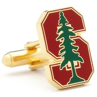 Gold Plated Stanford University Cufflinks