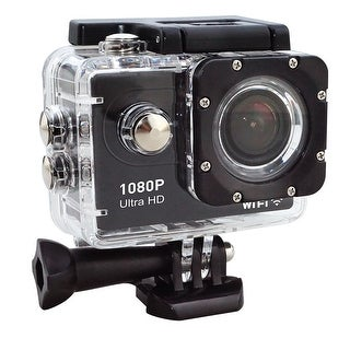 TechComm Voyager One 1080P Action Wi-Fi Camera with CMOS Sensor, Waterproof Case, Fish-Eye Lens and 140-Degree Wide Angle View