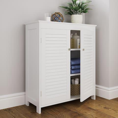 Ellsworth Two-Door Floor Cabinet, White