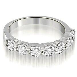 1.05 cttw. 14K White Gold Classic Round Cut Diamond Wedding Band