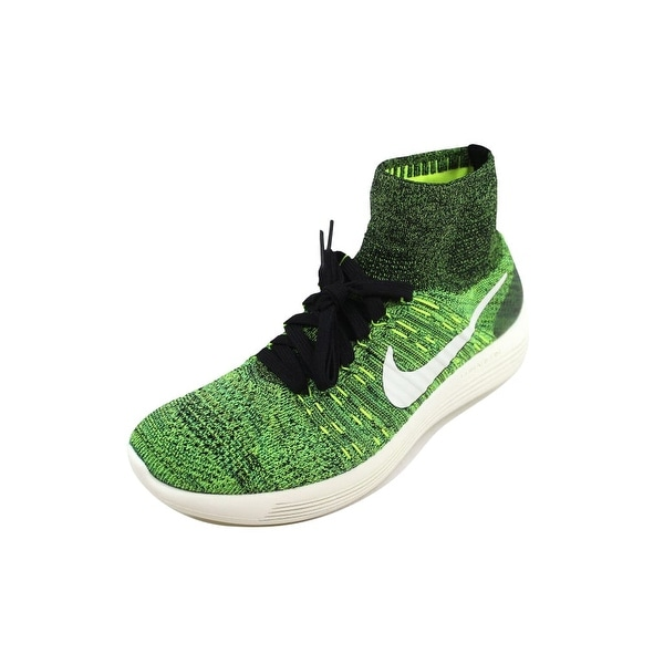 buy popular 81608 16011 Nike Men  x27 s Lunarepic Flyknit Black Black-Volt-Poison Green
