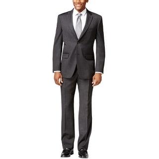 Jones New York Roger Charcoal Solid Suit 38 Regular 38R Pants 31.5W