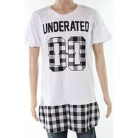 """Lilbetter White Mens Size Large L """"Underated"""" Graphic Tee T-Shirt"""