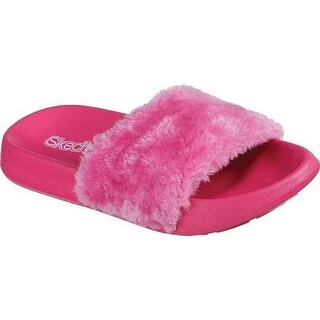 Skechers Girls' Sunny Slides Sandal Hot Pink