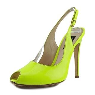 Giambattista Valli V0356 Women Peep-Toe Synthetic Yellow Slingback Heel