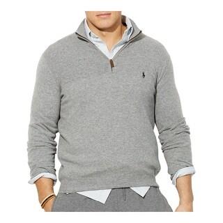 Polo Ralph Lauren Big and Tall Merino Wool Sweater Light Grey 2XB Big