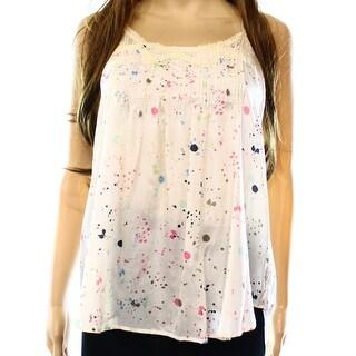 Rieley Collection NEW Beige Women's Size Medium M Lace Trim Silk Blouse