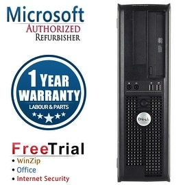 Refurbished Dell OptiPlex 760 Desktop Intel Core 2 Duo E7400 2.8G 4G DDR2 160G DVD Win 7 Home 64 Bits 1 Year Warranty