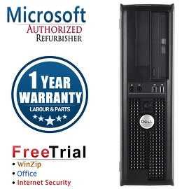 Refurbished Dell OptiPlex 760 Desktop Intel Core 2 Duo E7600 3.0G 4G DDR2 160G DVD Win 7 Home 64 Bits 1 Year Warranty