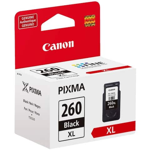 Canon PG-260 XL High Yield Black Ink Cartridge, 3706C001