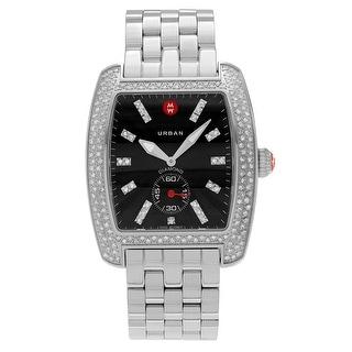 Michele Women's MWW02T000008 'Urban' Stainless Steel 1 1/10 CT Diamond Link Watch - Silver