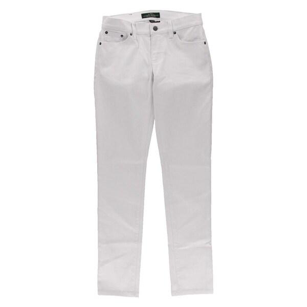 LRL Lauren Jeans Co. Womens Skinny Jeans Denim Low Rise