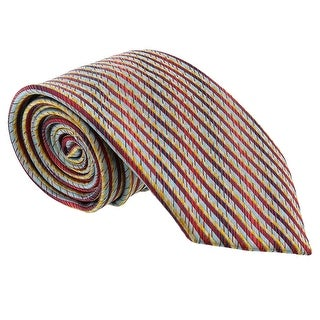 Missoni Feathered Stripe Blue/Red Woven 100% Silk Tie