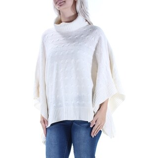 RALPH LAUREN $198 Womens New 1334 Ivory Cowl Neck Dolman Sleeve Sweater S B+B