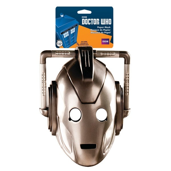 Doctor Who Cyberman Paper Adult Costume Mask - Gold