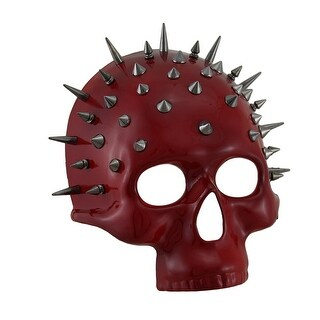 Spiked Red Half Face Skull Mask